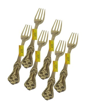 Handcrafted Stylish Pure Brass Copper Flatware Set with Spoon Cutlery Kit, Brass is healty for body. (5, Brass Gold)