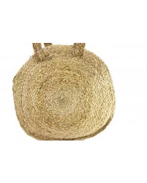 Handscart Handcrafted Boho Design Women's Tote Bags withEcofriendly jute for all purpose.(Circu Circular Shoulder_Jute )