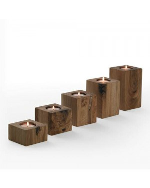 Ecofriendly Bamboo Classic Wooden handcrafted Candle Set- Set of 5 , with Bamboo and  crafted by natural woods.